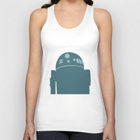r2d2 Tank Tops featuring R2D2 by olive hue designs