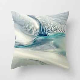 Sandy Point Broome Low Tide Patterns Throw Pillow