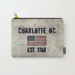 Tribute to Charlotte, NC, EST. 1768 Carry-All Pouch