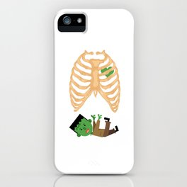 Ribcage Zombie Halloween Skeleton Bones Hallows Eve Gifts iPhone Case