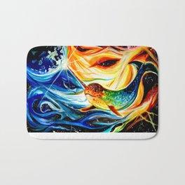 Space Narwhal Bath Mat
