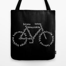 Typographic Bicycle Tote Bag
