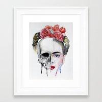 frida kahlo Framed Art Prints featuring Frida Kahlo  by Karol Gallegos Carrera