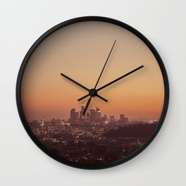 Los Angeles City Sunset Wall Clock