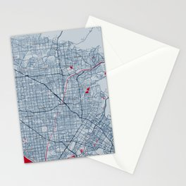FanMap | MLB Los Angeles #11 Stationery Cards