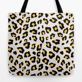 Leopard Print - Mustard Yellow Tote Bag