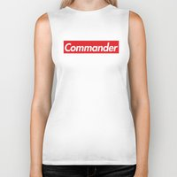 supreme Biker Tanks featuring supreme commander by Arielle