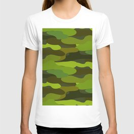 Camo-licious Collection: Wild Jungle Green Camouflage Pattern T-shirt