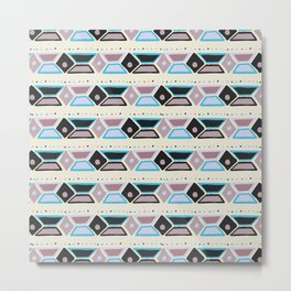 Abstract modern hand painted geometrical watercolor pattern Metal Print