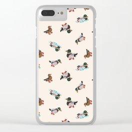 Mallard Duck Clear iPhone Case