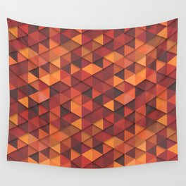 Seamless orange fashion retro hipster pattern Wall Tapestry