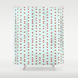 Uneven Dots Watermelon Shower Curtain