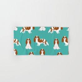 Cavalier King Charles Spaniel blenheim coat dog breed spaniels pet lover gifts Hand & Bath Towel
