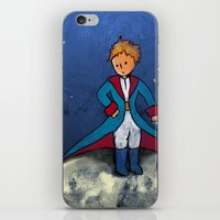 the little prince iPhone & iPod Skins featuring Little Prince by Anais.Lalovi
