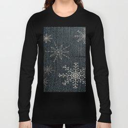 Denim Snowflake Long Sleeve T-shirt