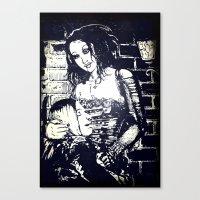 modern vampires of art history Canvas Prints featuring Vampires by Streetlight by Michael Duggan