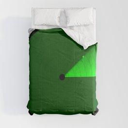 Radar Screen With A Green UFO Dot Comforters