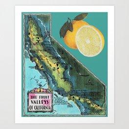 FRUITS OF THE CALIFORNIAN LOOM Art Print