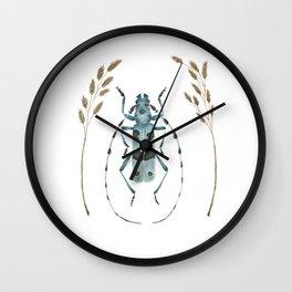 Alpine Longhorn Beetle in the Fields Wall Clock
