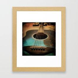 Midnight Strum Framed Art Print