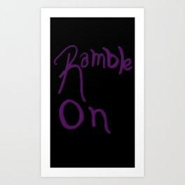 Rambling Art Print