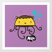 musa Art Prints featuring Lusa Musa© of MILK FACTORY ® by Mimi Guarnero