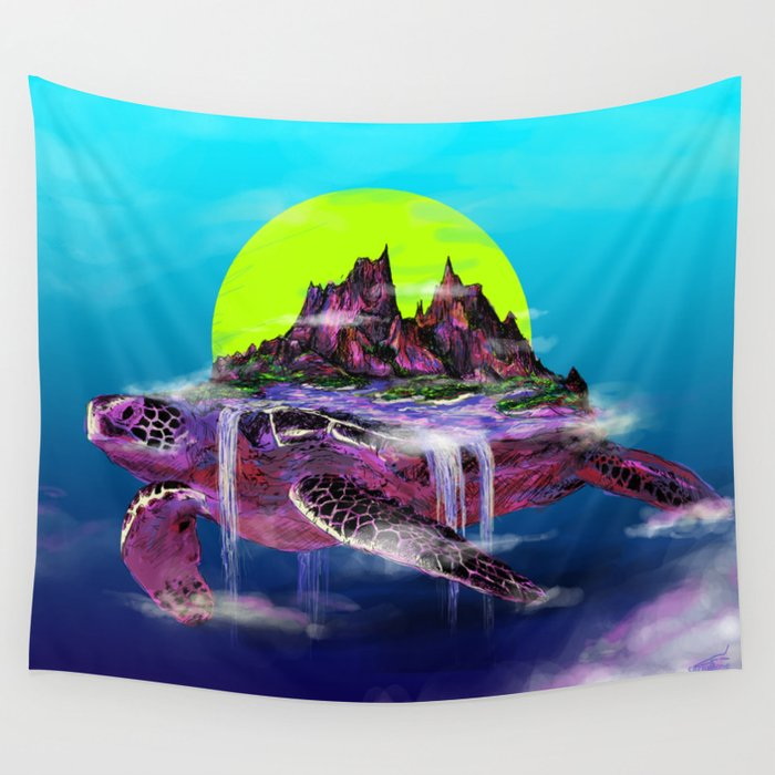 Turtle Paradise Wall Tapestry