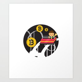 Funny Bitcoin Currency Rollercoaster Hodl Bitcoin Art Print