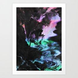 Effort to breathe Art Print