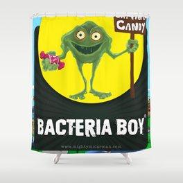 Bacteria Boy Shower Curtain