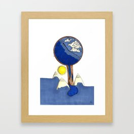 Time of world Framed Art Print