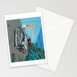 rusty Packard car Stationery Cards