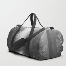 Redwood Forest Adventure Black and White - Nature Photography Duffle Bag