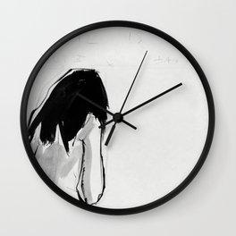 GIRL IN BATHROOM Wall Clock