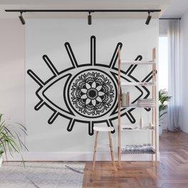 Mandala Evil Eye Wall Mural