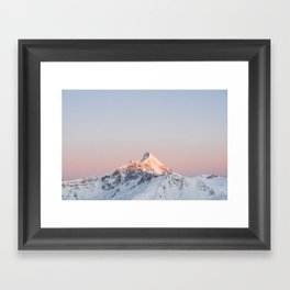 Mt Aspiring, Wanaka, New Zealand Framed Art Print