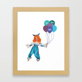 Aja - Clown Framed Art Print