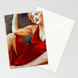 Marylin Monroe Red Dress Stationery Cards