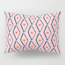Pink Navy Diamond pattern Pillow Sham