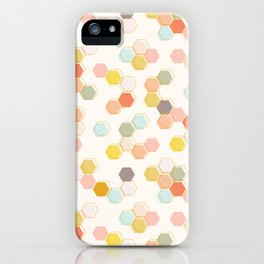 Honeycomb - Sweet Cream iPhone Case