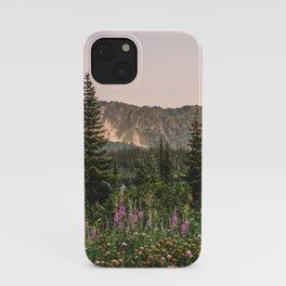 Mount Rainier Wildflower Adventure VII - Pacific Northwest Mountain Forest Wanderlust iPhone Case