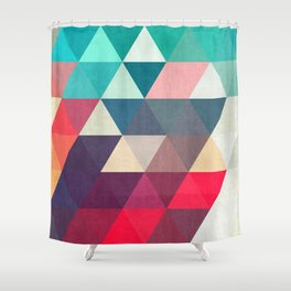 Modern triangular composition VII Shower Curtain