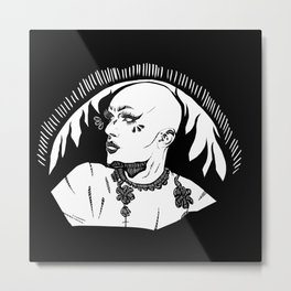 Sasha Velour 2 Metal Print