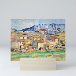 Paul Cézanne - Mont Sainte-Victoire and Hamlet Near Gardanne - Hameau à Payennet près de Gardanne Mini Art Print