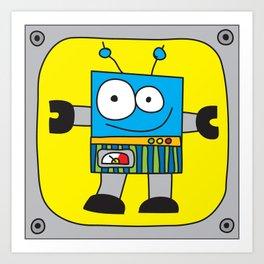 Rectangle Robot Art Print