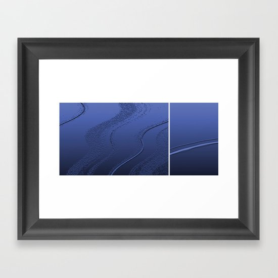 Abstract diptych Blue Framed Art Print