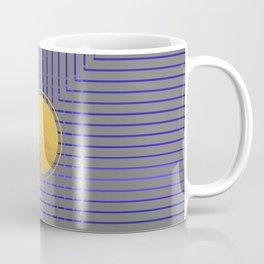 Golden Moon Blue Light On Grey Coffee Mug