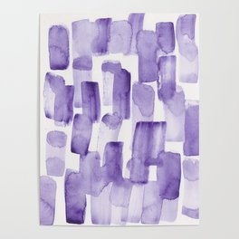 Purple Watercolour Patterns | 190129 Abstract Art Watercolour Poster
