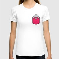 pocket T-shirts featuring Pocket Dolphin by Steven Toang