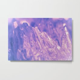 Purple Crystal Metal Print